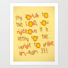 Sing Joyfully! Art Print
