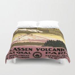Vintage poster - Lassen Volcanic National Park Duvet Cover
