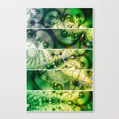 Emerald Universe (Five Panels Series) Canvas Print