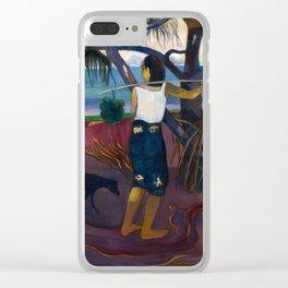 Under the Pandanus II by Paul Gauguin Clear iPhone Case