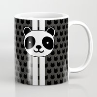 racing Mugs featuring Racing Panda by XOOXOO