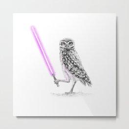 Jedi Owl Mace Windu Metal Print