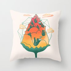 City In Bloom Throw Pillow