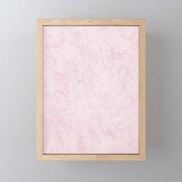 Pink Marble Stone Framed Mini Art Print