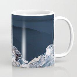 BLUE MARBLED MOUNTAINS Coffee Mug