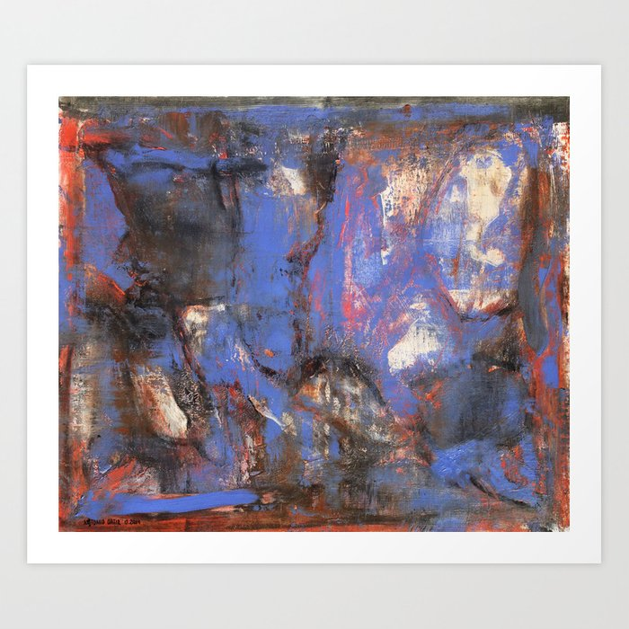 Long Live Oil Paint (oil on canvas) Art Print