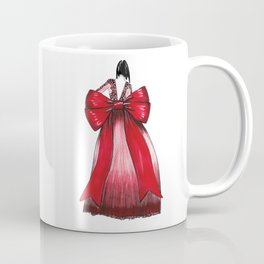 Red Bow Dress Coffee Mug