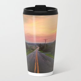 Sunset Over Fish & Game Road Metal Travel Mug