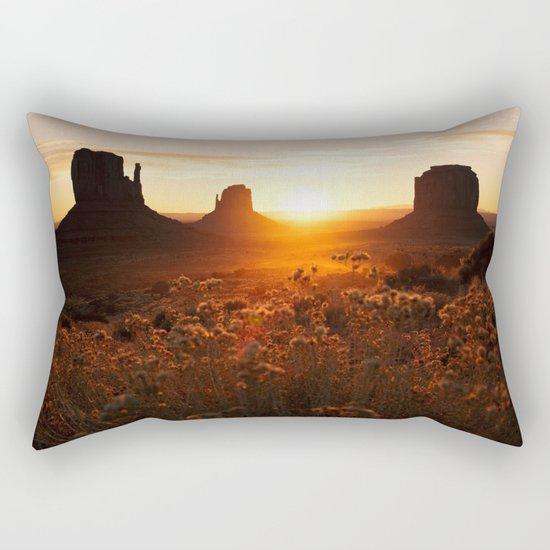 Sunrise in Monument Valley Rectangular Pillow