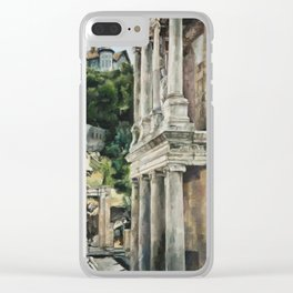 Ancient Amphitheater Clear iPhone Case