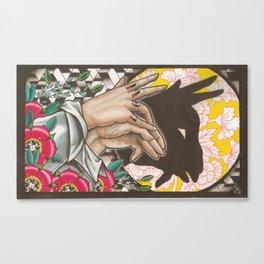 Goat Shadow Puppet Canvas Print