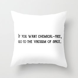 Chemical Free Throw Pillow