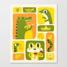 Reptile Music Canvas Print