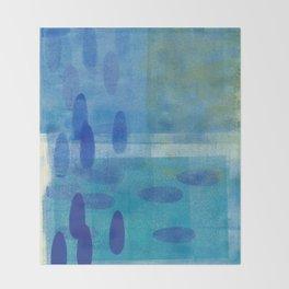Blue Lyric 3 Throw Blanket