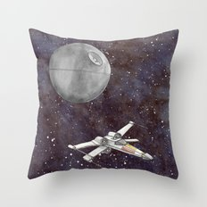 A War in the Stars in Watercolors Throw Pillow