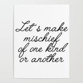 let's make mischief Poster