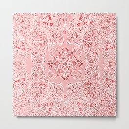 Pink Paisley Bandana Metal Print