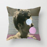 coco Throw Pillows featuring Coco by Naomi Vona