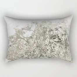 Annabelle Hydrangea - Pale Vintage Botanicals Rectangular Pillow