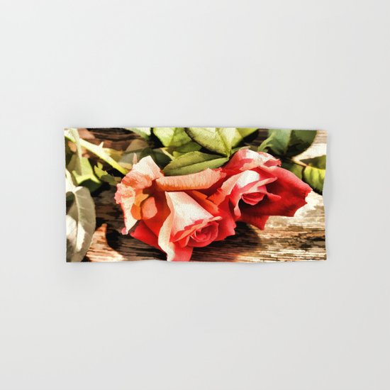 Timeless Tropicana Roses Hand & Bath Towel