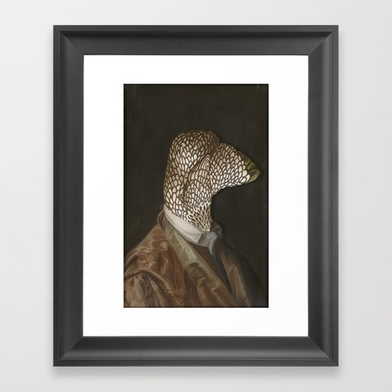 Chicken Head Framed Art Print