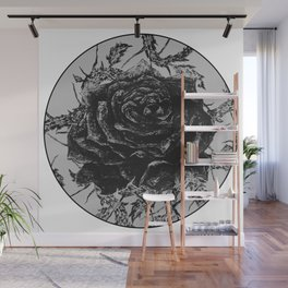 """""""Rose And Thorns"""" illustration by Maxime Potvin Wall Mural"""