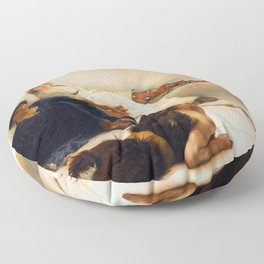 Lawrence Alma-Tadema - A Reading From Homer1 - Digital Remastered Edition Floor Pillow