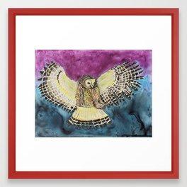 Flying Owl Framed Art Print