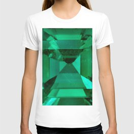 FACETED EMERALD GREEN MAY GEMSTONE T-shirt
