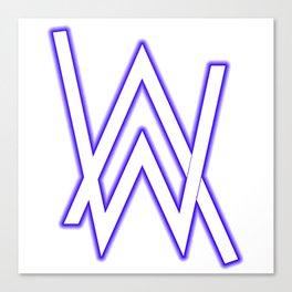 alan walker initial white Canvas Print
