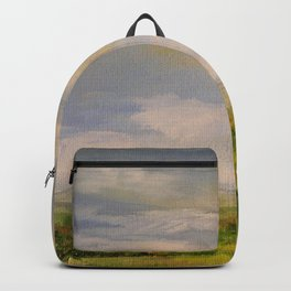 Scenic Autumn Late Afternoon in Vermont Nature Art Landscape Oil Painting Backpack