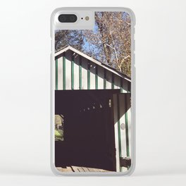 Seeing through a covered bridge Clear iPhone Case