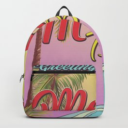 Greetings From Mexico Beach Florida Backpack