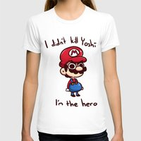 mario T-shirts featuring Mario by HeliPeach