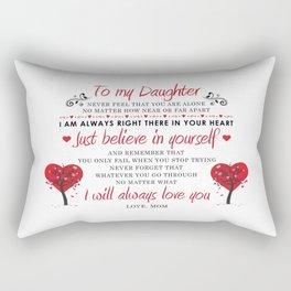 To My Daughter Rectangular Pillow