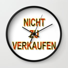 NOT FOR SALE E Wall Clock