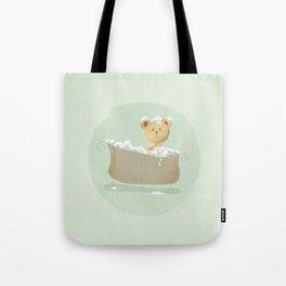 Teddy Bear in Bathtub  Tote Bag
