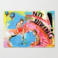 No Diving! Canvas Print