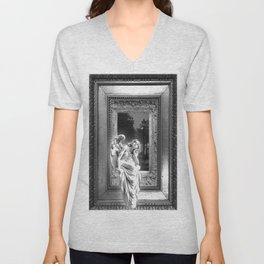 Angel of Bristol (BW) Unisex V-Neck