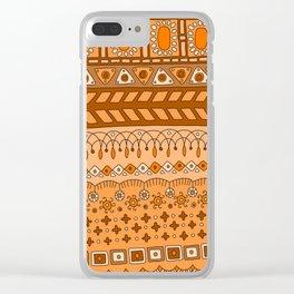 Yzor pattern 008 warm Clear iPhone Case