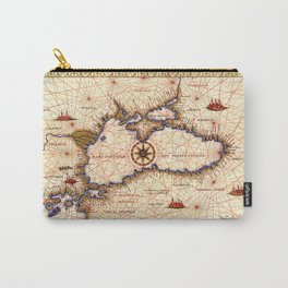 Black sea medieval map Carry-All Pouch