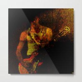 Portrait of a Guitarist Metal Print