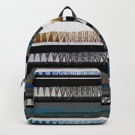 Deep Bold African Neo Tribal Boho Mud Cloth Backpack