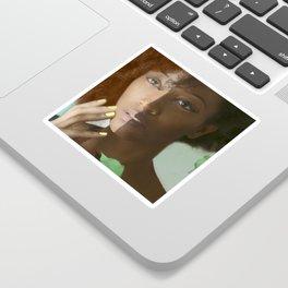 Colorism Split-Face Black Woman Sticker
