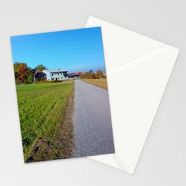 Country road and beautiful panorama | landscape photography Stationery Cards
