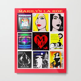 MARILYN LA ROE ... 3rd poster Metal Print