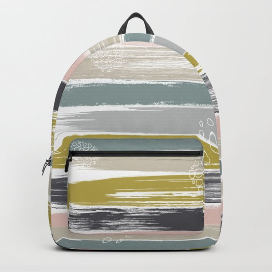 Fragments, Brushstrokes and Circles Backpack