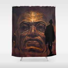 Gandhi - the walk Shower Curtain