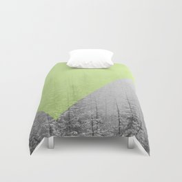 NEON NATURE | Green Duvet Cover