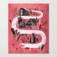 snake Canvas Prints featuring Snake by Maggie Chiang